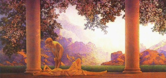 Daybreak by Maxfield Parrish (1870-1966)